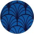 rug #1217611 | round blue retro rug