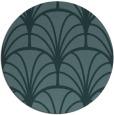 rug #1217651 | round blue-green retro rug