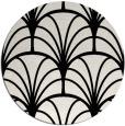 rug #1217727 | round black rug