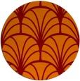 rug #1217791 | round red-orange graphic rug