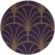 rug #1217831 | round mid-brown retro rug