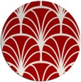 rug #1217839 | round red graphic rug
