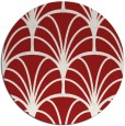 rug #1217847 | round red graphic rug