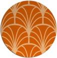 rug #1217859 | round red-orange graphic rug