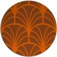 rug #1217863 | round red-orange retro rug