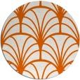 rug #1217867   round red-orange retro rug