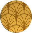 rug #1217911 | round yellow retro rug