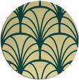 rug #1217915 | round yellow rug