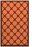 rug #121809 |  red-orange geometry rug