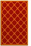 rug #121853 |  orange borders rug