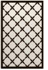 rug #121905    brown borders rug
