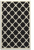 rug #121917 |  black borders rug