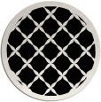 rug #121965 | round white popular rug
