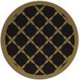 rug #121981 | round brown borders rug
