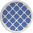 rug #122001 | round blue rug