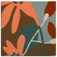 rug #1220375 | square orange natural rug