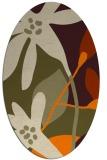 rug #1220523   oval beige natural rug