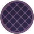 rug #122057 | round purple traditional rug