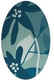 rug #1220575 | oval blue-green rug
