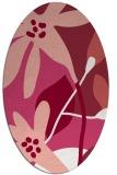 rug #1220763 | oval pink natural rug