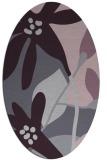 rug #1220779   oval purple natural rug