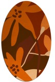 rug #1220803 | oval red-orange popular rug