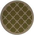 rug #122081 | round mid-brown traditional rug