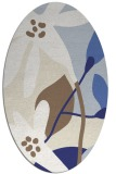 rug #1220823 | oval white natural rug