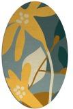 rug #1220855   oval yellow natural rug