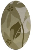 rug #1220867 | oval light-green natural rug