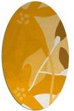 rug #1220879 | oval light-orange rug