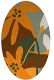 rug #1220883 | oval light-orange rug
