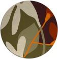 rug #1221259   round orange natural rug