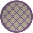 rug #122141 | round purple traditional rug