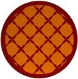 rug #122149 | round orange borders rug