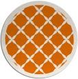rug #122153   round orange borders rug