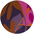 rug #1221543 | round red-orange natural rug
