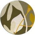 rug #1221579 | round yellow rug