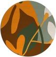 rug #1221619 | round light-orange natural rug