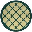 rug #122165 | round yellow borders rug