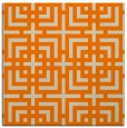 rug #1221995 | square orange check rug