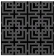 rug #1222003 | square black check rug