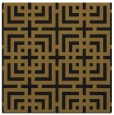 rug #1222015 | square mid-brown check rug