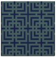 rug #1222035 | square blue check rug