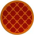 rug #122205 | round red borders rug