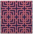 rug #1222087 | square pink check rug