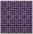 rug #1222091 | square purple check rug
