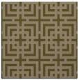 rug #1222107 | square mid-brown check rug