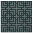 rug #1222127   square blue-green check rug