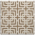 rug #1222155 | square mid-brown check rug